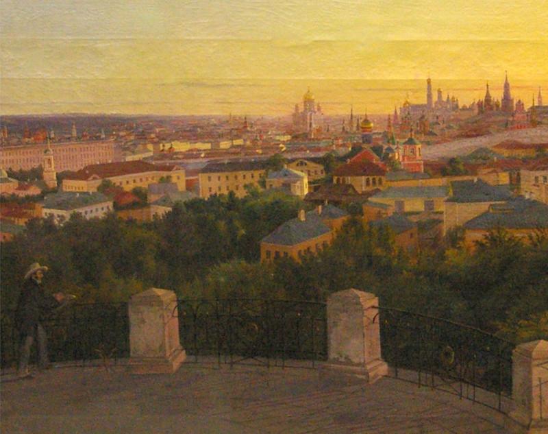 1856 картина А.Н. Мокрицкого Вечерняя Москва (1856 г.) из собрания музея..jpeg