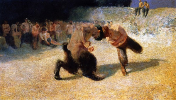 Fighting Fauns