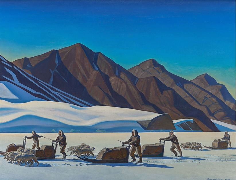 Rockwell Kent, Polar Expedition, 1944. Oil on canvas, 34 x 44 inches.