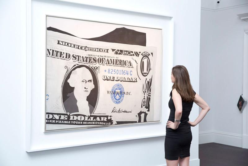 Andy Warhol's dollar 1962