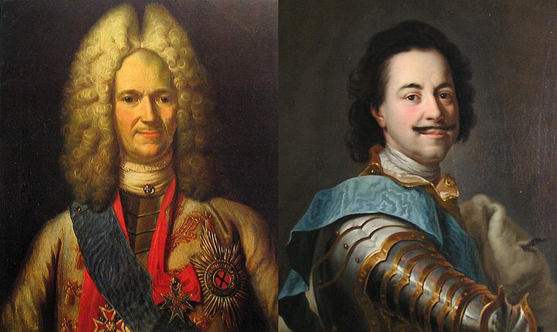 Петр и Меншиков