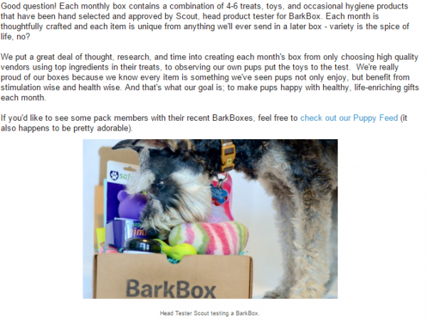 BarkBox   What kind of items are included in a Bar...