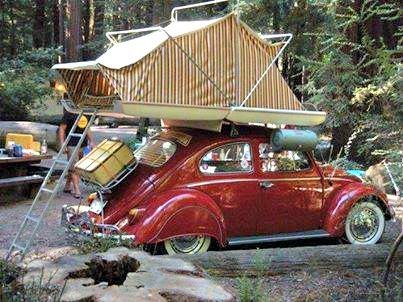 Автомобильная палатка, 1958 год