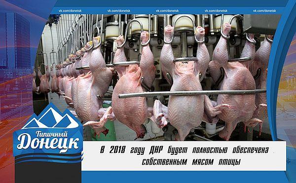 В 2018 году ДНР полностью обеспечит свое население мясом птицы