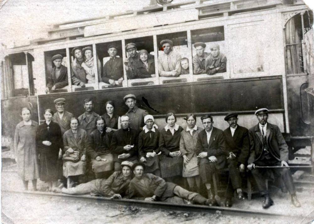 Первый Донбасский трамвай на Щегловке. Ноябрь 1924 года