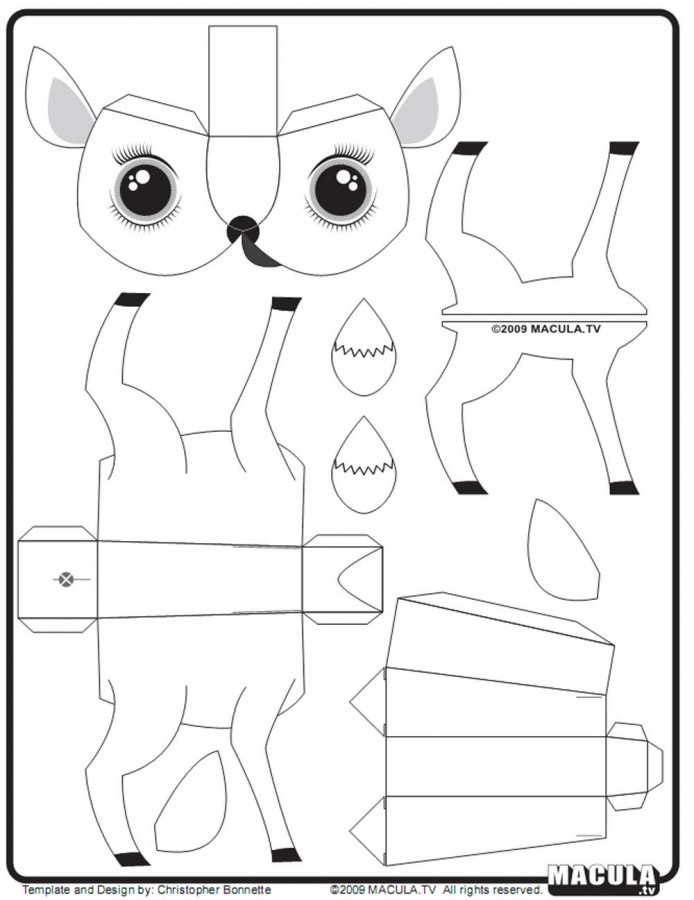 3д поделки из бумаги схемы шаблоны