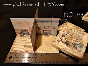 New Folding Dollhouse - Miniature Lithographed Toy - McLoughlin Bros. - C. 1894