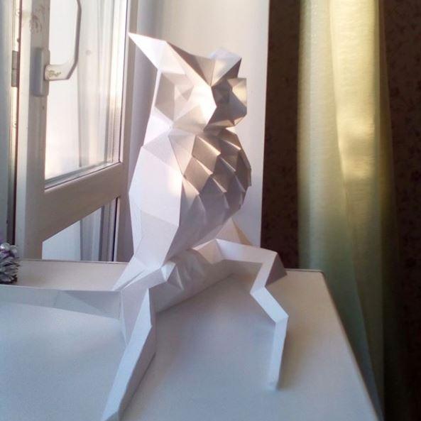 Одна из первых моделей, сова на ветке. (фото с телефона)