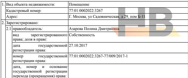 Документы на право собственности. Владелец - дочь губернатора Самарской области Дмитрия Азарова Полина Азарова