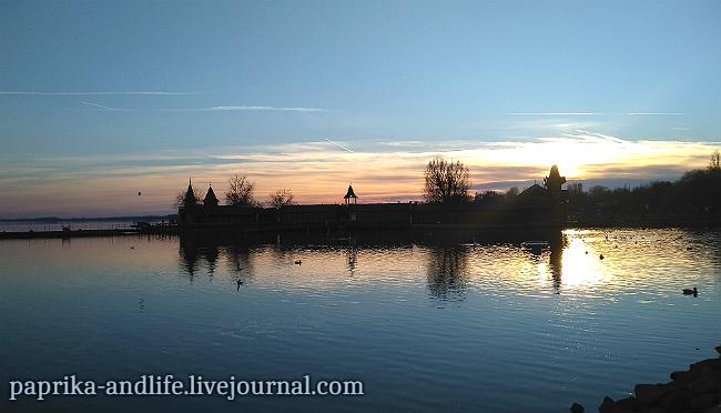 Венгрия, озеро Балатон однажды в декабре