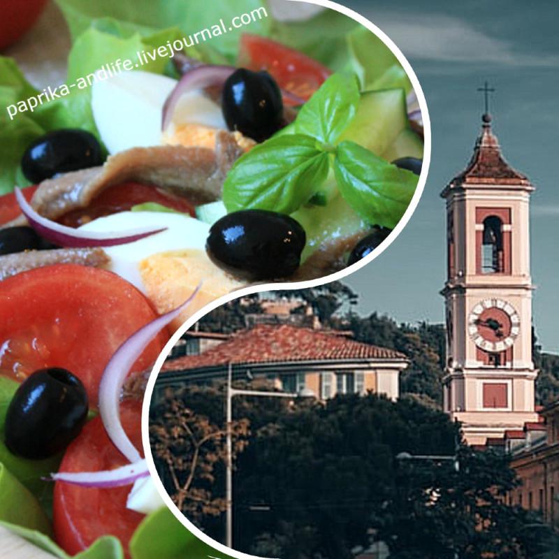Справа на коллаже — город Ницца (автор фото Kevin Oetiker/ unsplash.com)
