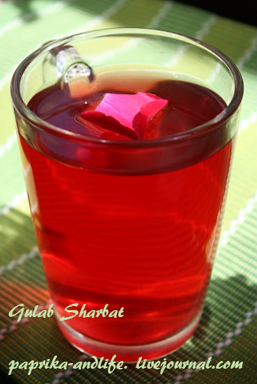 Напиток из розовых лепестков, два варианта