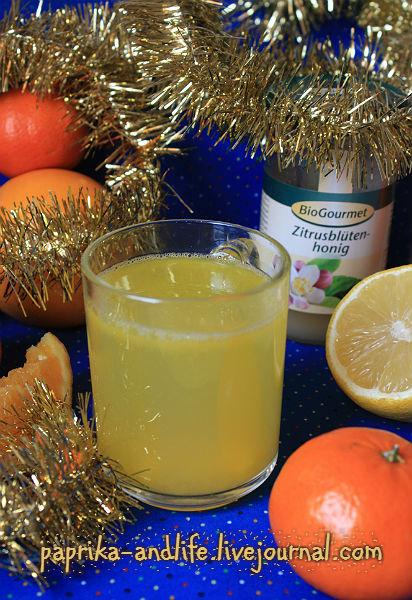 Оранжад. Зимний вариант с мёдом из цветков цитрусовых.