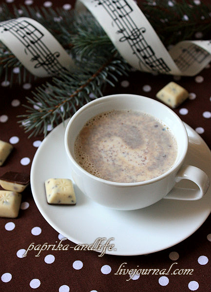 Чёрно-белый горячий шоколад