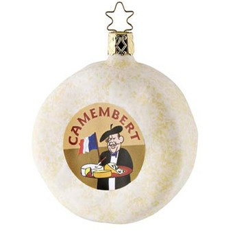 French Camembert Cheese Christmas Ornament