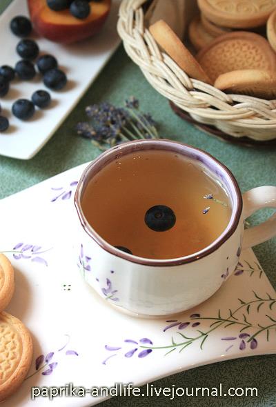 Лавандовый чай с фруктово-ягодным нектаром