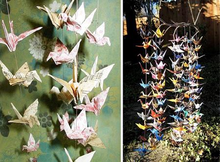 Оригами из журавлей