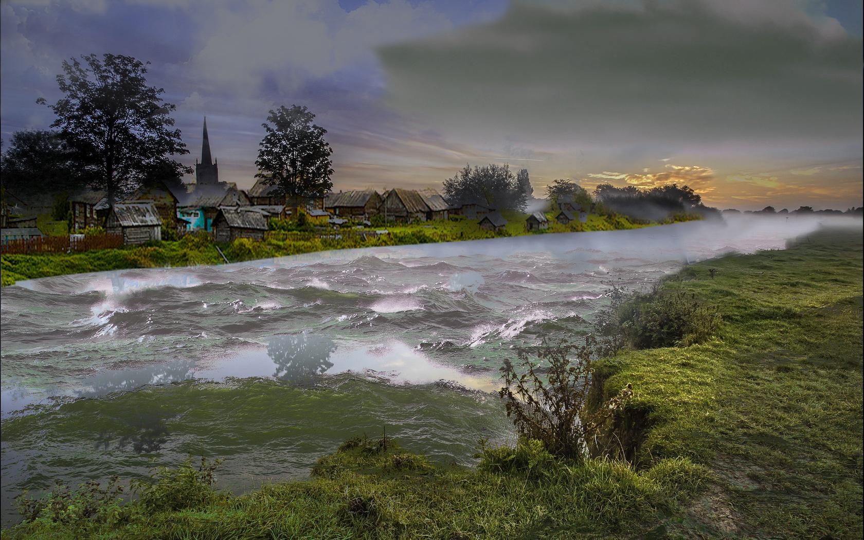 деревня-шторм на реке 1