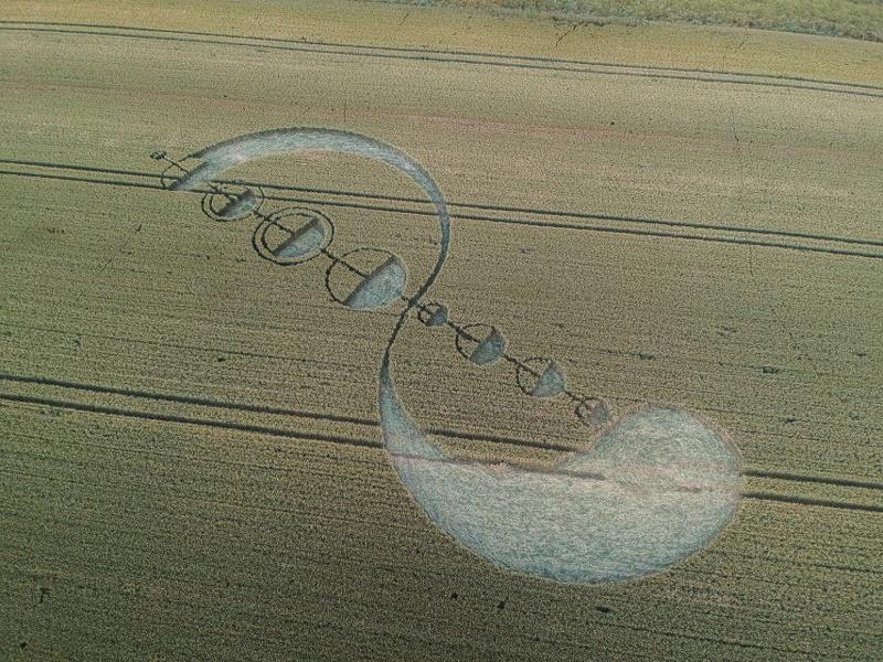 (29 июня 2019 обнаружен рисунок на одном из полей в Saulx-Marchais, Nr Beynes, Yvelines, Франция.).
