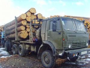 Камаз-лесовоз Пармасруб