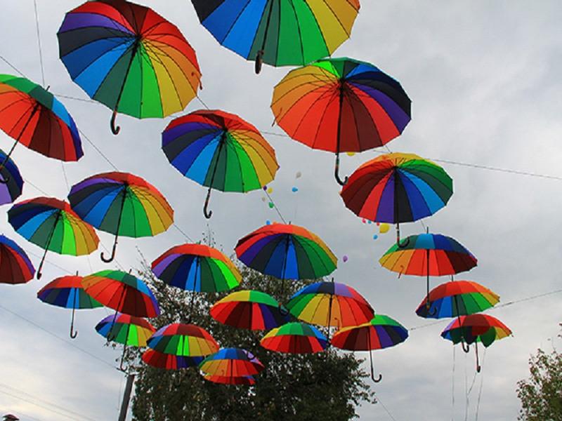 Парящие зонтики в Геническе