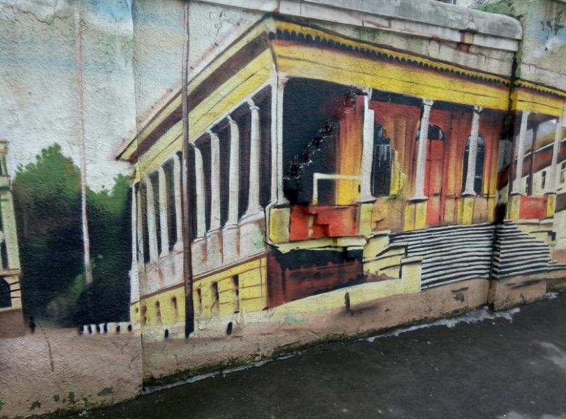 Граффити, улица Полтавский Шлях, 43-45