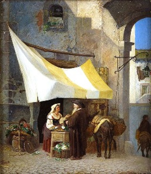 006_01 Риццони А.А. Зеленная лавочка во Фраскати. 1867