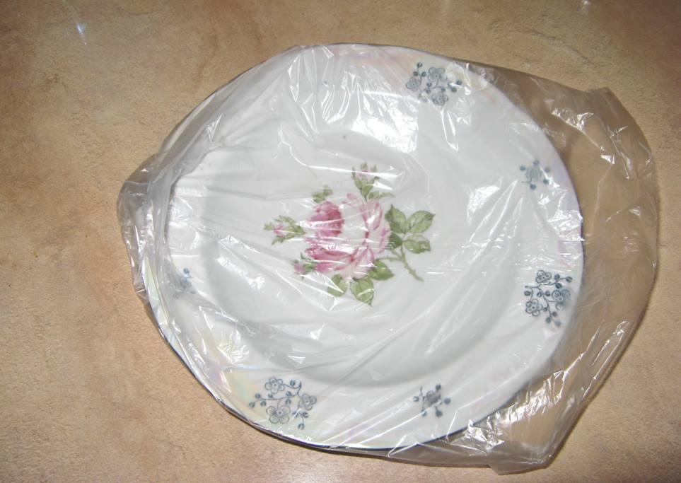 Как вставить в тарелке