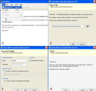 Инструкция по запуску и настройке программы ljArchive