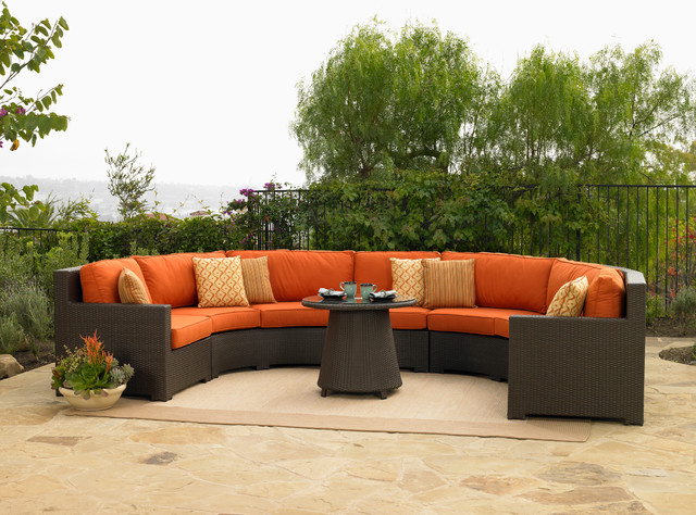 Outdoor Furniture Sofa Luxury Wicker Patio Sectional Indoor Set