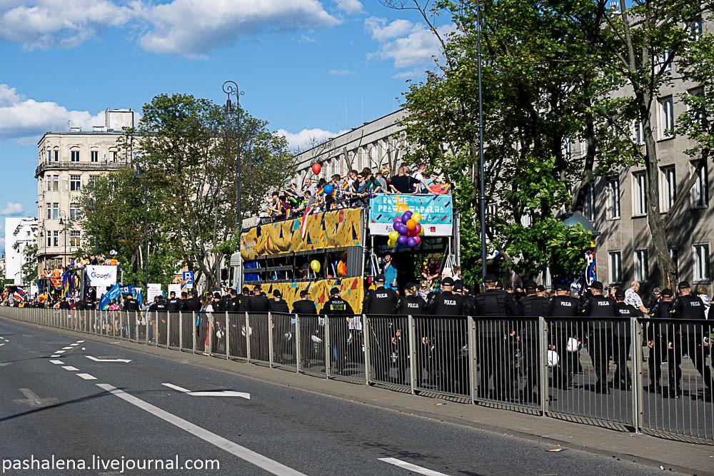 Гей-парад в Варшаве