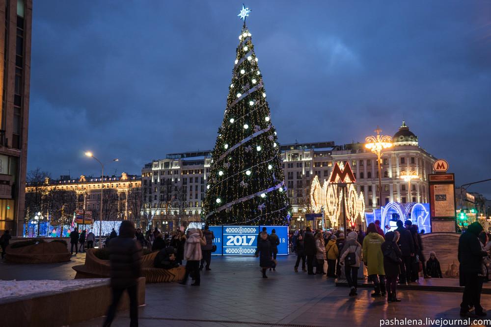 Елка на Пушкинской площади