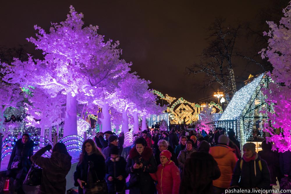 Как украсили Москву к Новому году