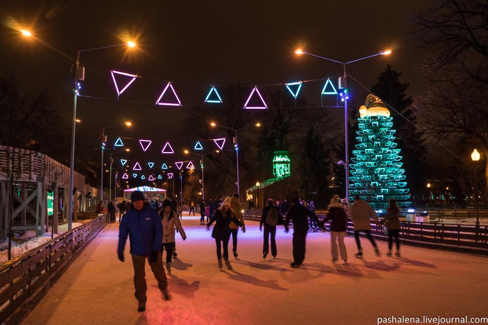Парк Горького зимой