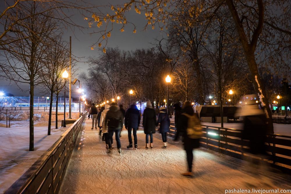 Каток в Парке Горького 2017