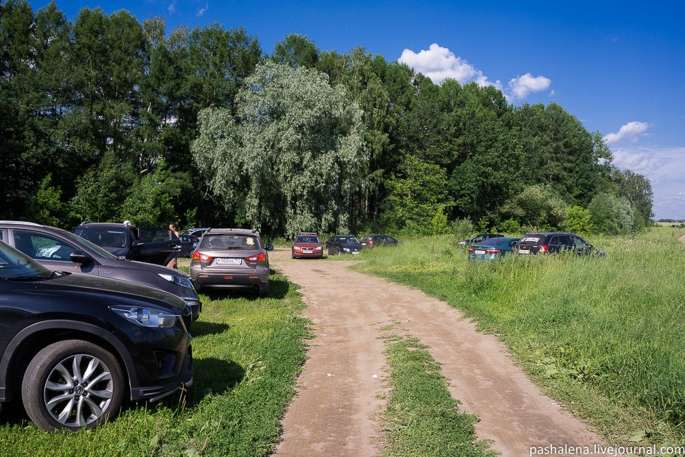 Парковка на Истринском водохранилище