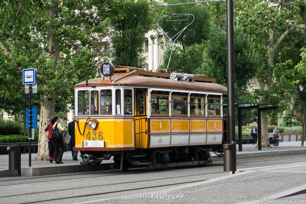 Старый трамвай Будапешта