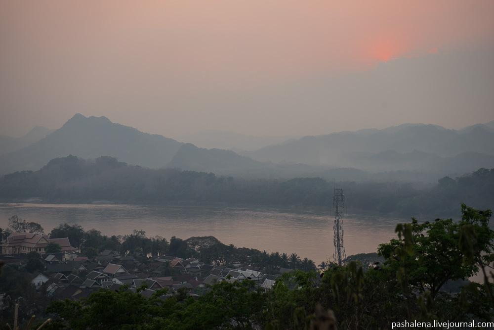 закат Луангпрабанг