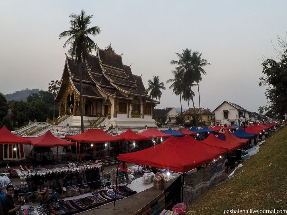 ночной рынок Лаос