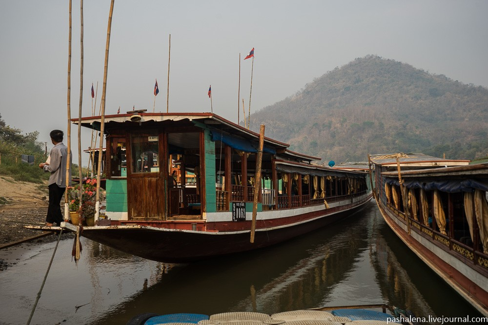 Лодка в Лаосе