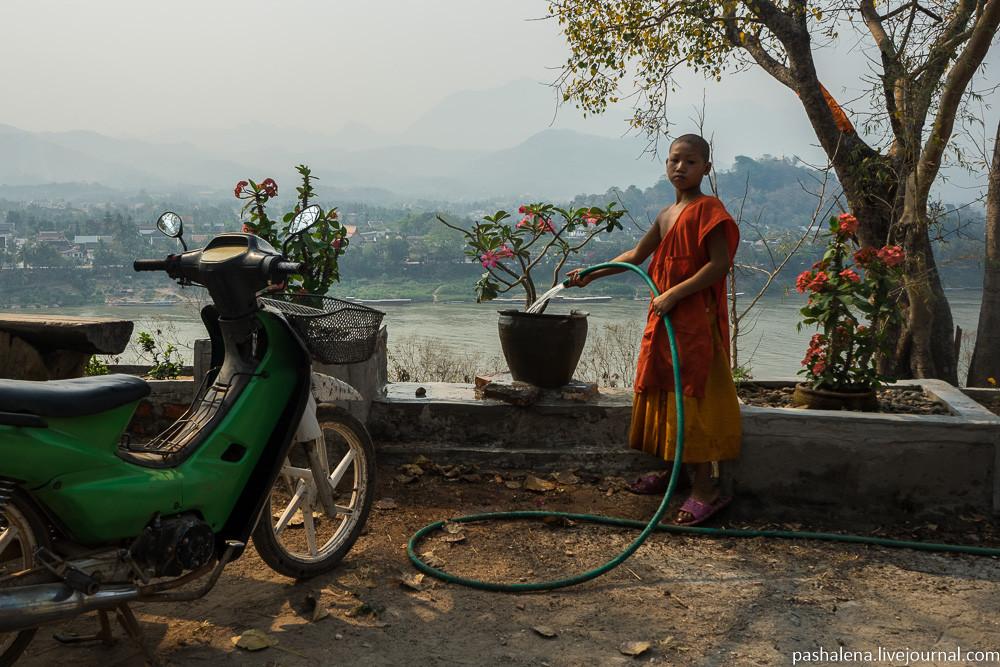 Лаосская культурная деревня: рынок, монастырь и детский труд