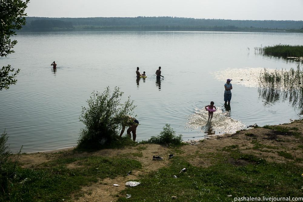 Пляж Круглое озеро