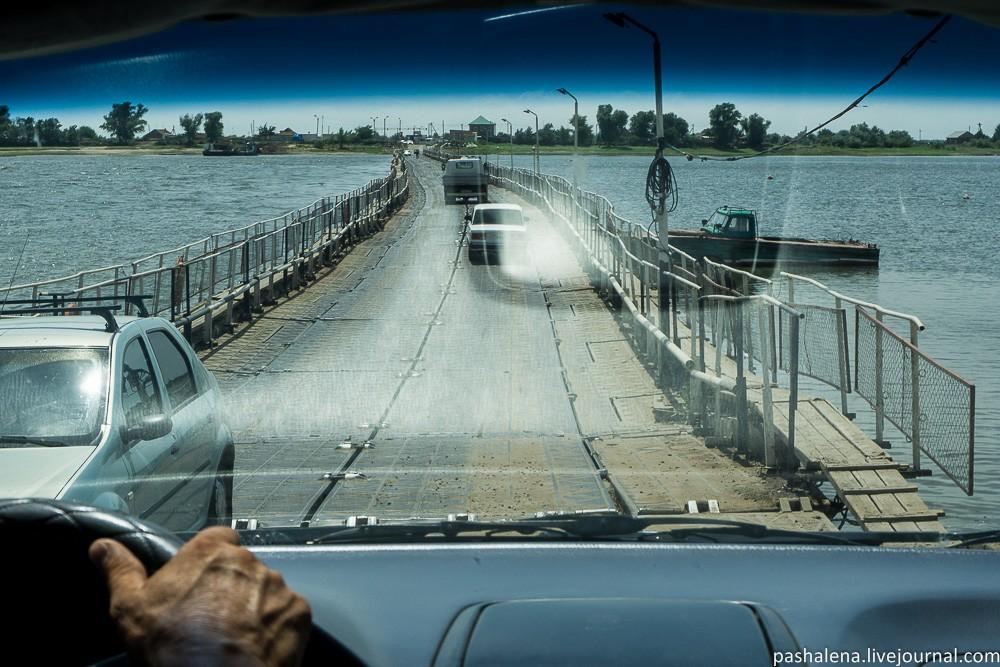 Понтонный мост Астрахань