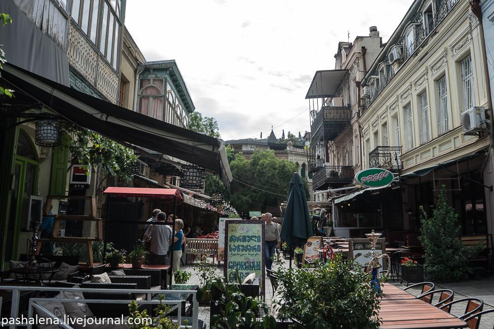 Улица для туристов в Тбилиси