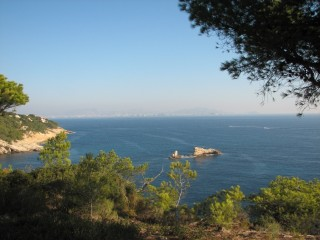 Marseille in the distance.