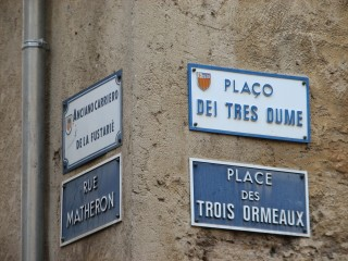 French and local dialect.