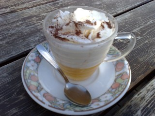 Bombardino. You just cannot ski in the Dolomites without it.