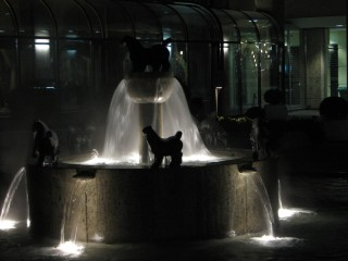 My favourite fountain - Big Butt Horses' I call it. :)