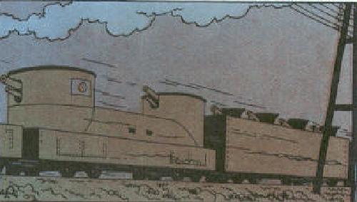 Японский броневагон в комиксах про Тинтина