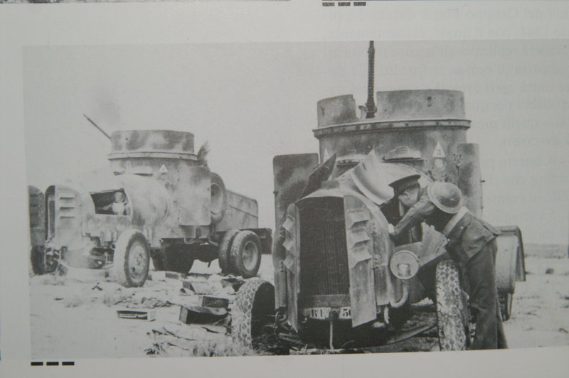February 1941, Cyrenaica, two armored cars abandoned at the British forces